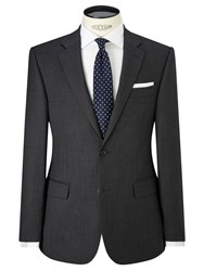 John Lewis Birdseye Wool Regular Fit Suit Jacket Charcoal