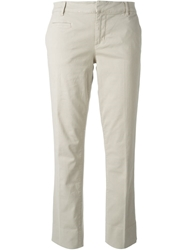Tory Burch Cropped Trousers Nude And Neutrals