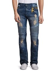 Robin's Jeans New Cargo Distressed Straight Leg 4D Dark