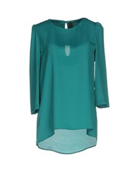Nora Barth Blouses Emerald Green