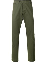 Barena Cropped Chino Trousers Green