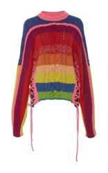 Spencer Vladimir Rainbow Crewneck Sweater Multi