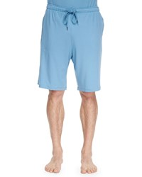 Derek Rose Basel Jersey Lounge Shorts Aqua Blue