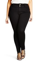 City Chic Plus Size Women's Asha Stretch Skinny Jeans Black