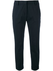 Tonello Cropped Tailored Trousers Women Cotton Polyester Cupro Pbt Elite 48 Blue