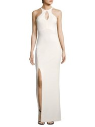 Likely Elston Cutout Gown White Black