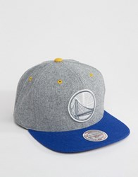 Mitchell And Ness Snapback Cap Greyton Golden State Warriors Grey