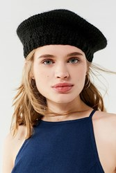 Urban Outfitters Hand Crocheted Beret Black