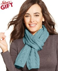 Charter Club Cable Cashmere Muffler Clarion Blue