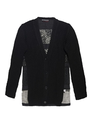 Rochas Lace Panel Cotton Cardigan