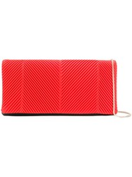 Giorgio Armani Ribbed Clutch Bag Red