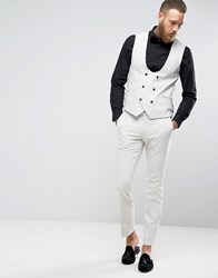 Noose And Monkey Super Skinny Suit Trousers Pale Grey