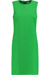 M Missoni Neon Cotton Blend Mini Dress Green