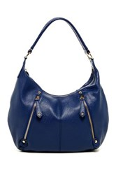Erica Anenberg Tribeca Leather Hobo Bag Blue