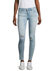 Ag Jeans Distressed Frayed Hem Legging Ankle Charming