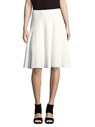 Saks Fifth Avenue Textured A Line Skirt Star White