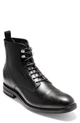 Cole Haan Wagner Grand Cap Toe Boot Black Leather