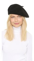 Hat Attack Wool Beret Black