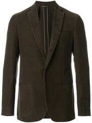 Aspesi Patch Pocket Blazer Cotton Viscose Green