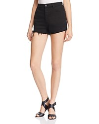 Michelle By Comune Austin High Rise Cutoff Shorts In Black Black Solid
