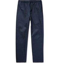 Fanmail Organic Cotton Twill Drawstring Trousers Midnight Blue