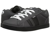 Osiris Loot Dark Grey Black White Men's Skate Shoes Gray