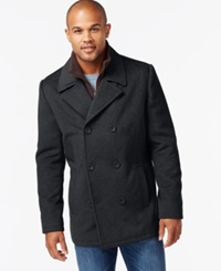 Kenneth Cole Wool Blend Peacoat Charcoal