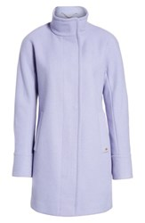 Ellen Tracy Women's Wool Blend Stadium Coat Lavender