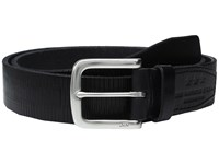 John Varvatos Laser Scored Strap Belt With Harness Buckle Black Men's Belts