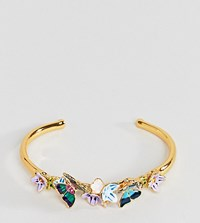 Bill Skinner Butterfly Floral Cuff Gold