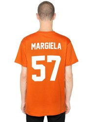 Les Artists Margiela Printed Cotton Jersey T Shirt