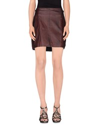 Don't Miss Your Dreams Skirts Mini Skirts Women Maroon
