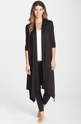 Women's Midnight By Carole Hochman 'Better Together' Long Robe Black