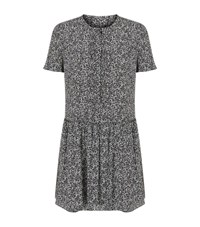 Burberry Ditsy Floral Smock Dress Female Black