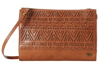 The Sak Iris Demi Clutch Tobacco Tribal Perf Clutch Handbags Brown