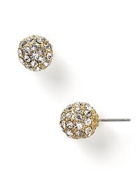 Carolee Pave Ball Earrings Gold
