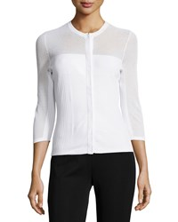 Versace 3 4 Slv Button Up Cardigan White