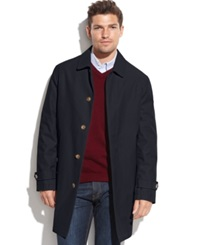 Tommy Hilfiger Single Breasted Removable Liner Rain Coat Navy