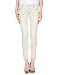 Twin Set Simona Barbieri Denim Pants Ivory