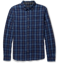 Marc By Marc Jacobs Regular Fit Check Cotton Flannel Shirt Blue