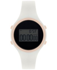Inc International Concepts Women's Digital Silicone Strap Watch 38Mm Only At Macy's White