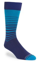 Men's Hook Albert Stripe Socks Blue Mclaughlin Blue