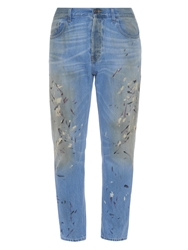 Gucci 1953 Hand Painted Straight Leg Jeans