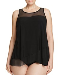 Miraclesuit Plus Illusionists Mirage Tankini Top Black