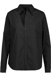 Y 3 Adidas Wren Cotton Poplin Shirt Black