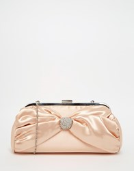 Lotus Satin Clutch Bag Cream