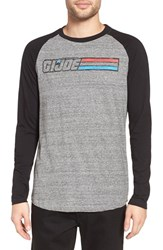 Eleven Paris Men's Elevenparis 'G.I. Joe' Graphic Raglan Baseball T Shirt Grunder Grey