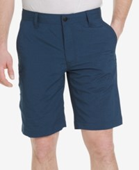 G.H. Bass And Co. Men's Cliff Peak Classic Fit Stretch Performance Heather Hybrid Shorts Dark Slate Blue