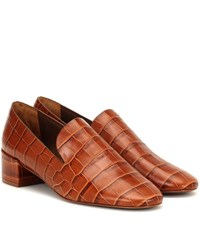 Mercedes Castillo Tillie Croc Effect Leather Pumps Brown