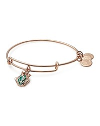 Alex And Ani Frog Prince Charm Expandable Wire Bangle Rose